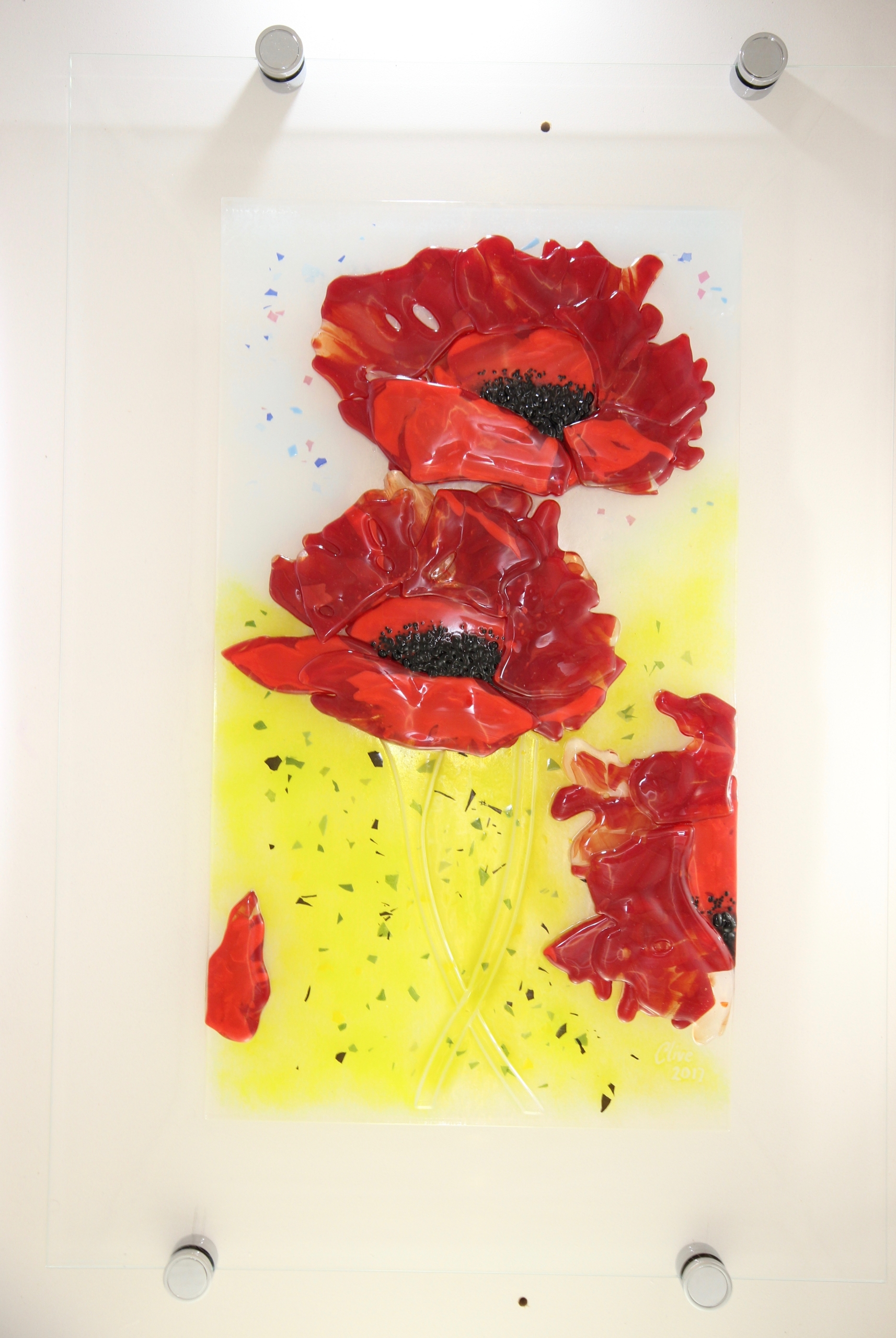 Awesome Red Poppy Wall Art Ornament - Wall Art Collections ...