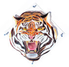 Snarling Tiger -  £540 including chrome standoffs, excluding postage