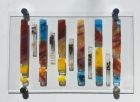 Abstract bars 2 - For sale £190 including chrome standoffs, excluding postage