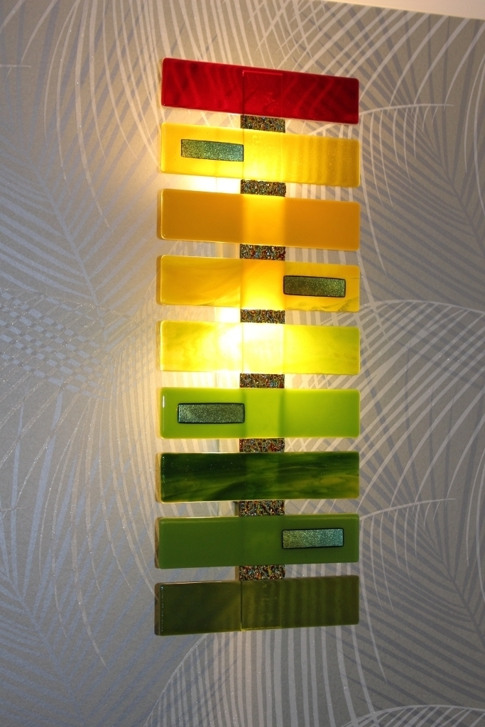 Fine Fusion Glass Wall Art Festooning - Wall Art Design ...