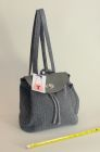 Grey Denim back pack (front view)