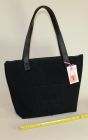 Black denim handbag