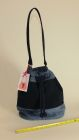 Denim bucket bag (front view)