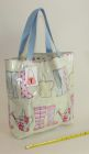 PVC tote bag, lined