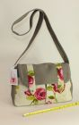 Denim and Cotton floral messenger bag