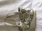 Fabric tote bag with rope handles