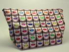 Lips fabric cosmetic / toiletries bag