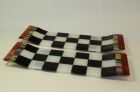 Fused glass table platters - approx 400mm long SOLD
