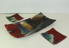 Fused glass Platter and dish set SOLD